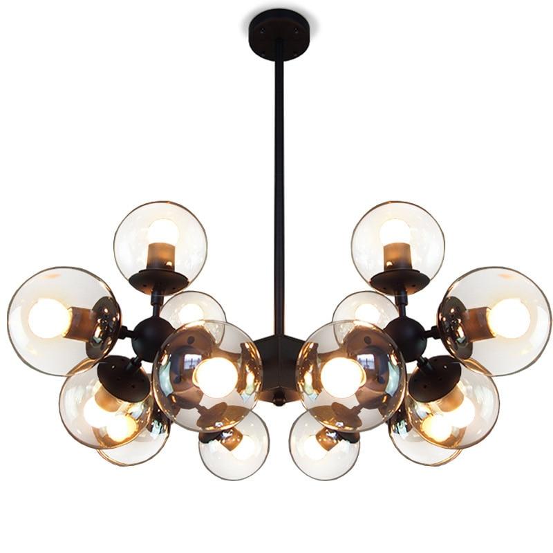vendimia luces colgantes led lamparas colgante para comedor cognac glass globe colgante sombra luces lmpara