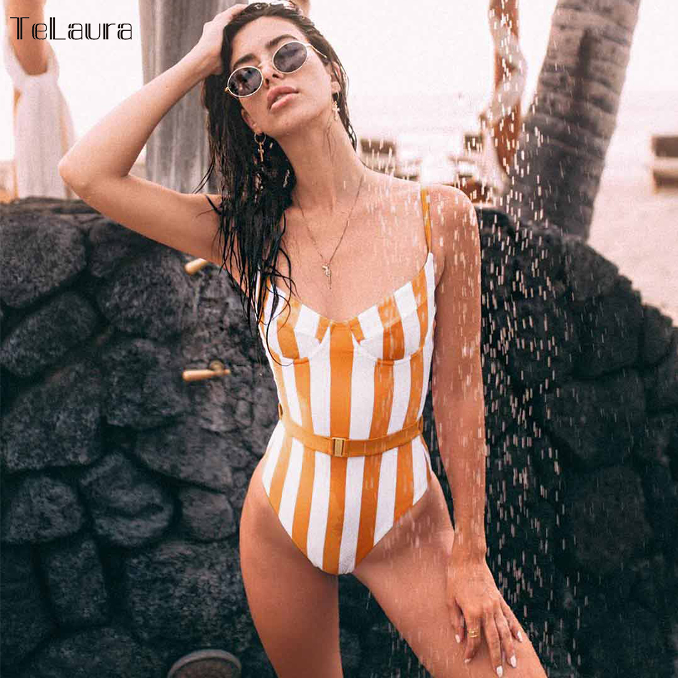 2018 Sexy Floral One Piece Swimsuit Women Swimwear Push Up Monokini Bodysuit Print Swim Suit Hollow Out Bathing Suit Beach Wear cut out front trumpet sleeve floral mesh bodysuit
