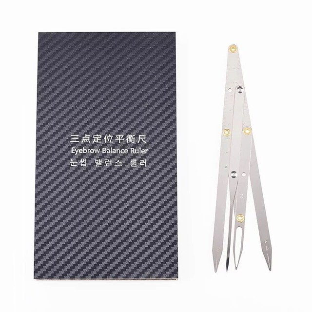 Microblading Eyebrow Tattoo Ruler Golden Ratio Permanent Grooming Stencil Shaper Symmetrical Stainless Steel Eyebrow Makeup Tool 5