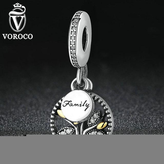 925 sterling silver prata árvore genealógica dangle com limpar cubic zirconia charme fit pandora bracelet mulheres jóias s306