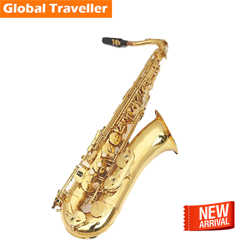 SILLY CAT Professional  Classical popular Jazz Bb Tenor Saxophone study perform Orchestra Band use Woodwind Musical instruments bb f tenor trombone lacquer brass body with plastic case and mouthpiece musical instruments