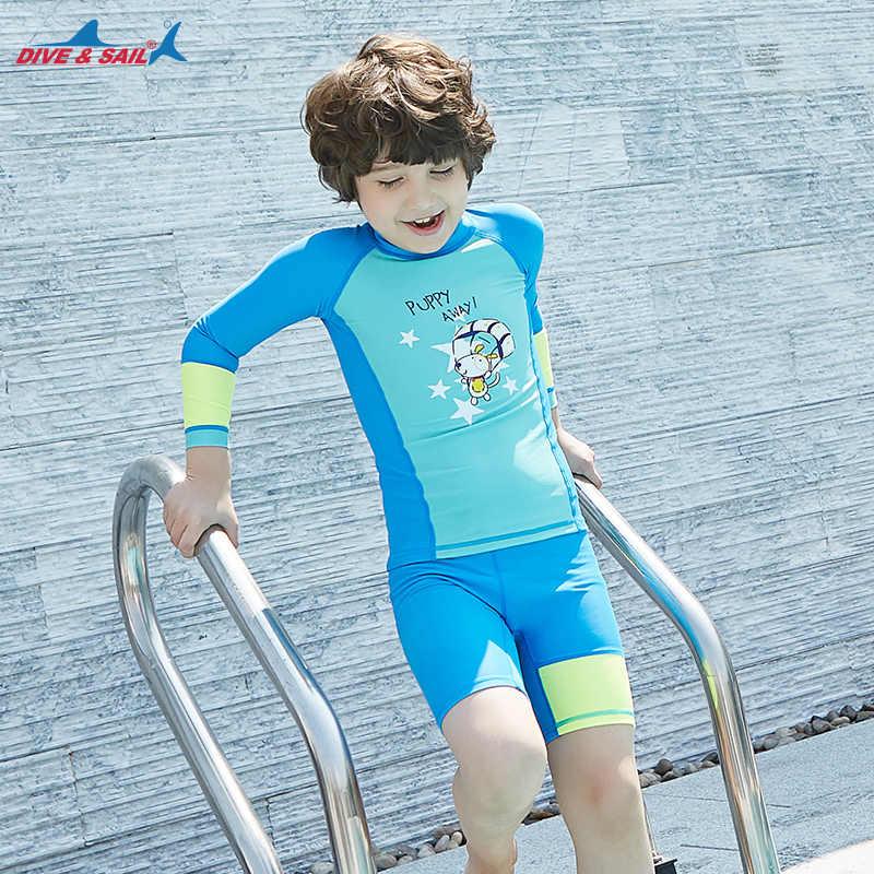 db5c2755ab ... Dive & Sail Kids UPF 50+ Swimwear Lycra Swimsuit Sun Protection 2-piece  Set. RELATED PRODUCTS. Baby Girls Kids Long Sleeve Swimwear Swimsuit Rash  Guard ...