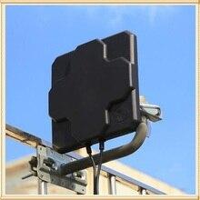 2 * 22dBi חיצוני 4G LTE MIMO אנטנה, LTE קיטוב כפול פנל אנטנת N נקבה מחבר (לבן או שחור) 20cm כבל