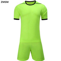 Mens Breathable Quick Dry Outdoor Short Sleeve Soccer Jerseys Kit Survetement Football 2017 Training Football Sportswear