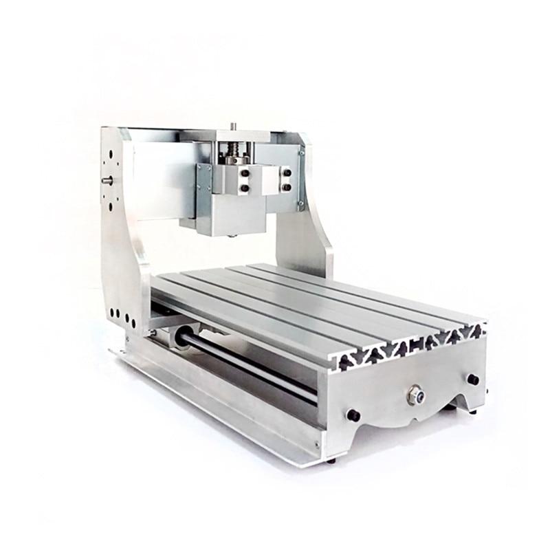 Bricolage CNC 3020 mini cadre de machine de découpe avec moteur de broche 52mm