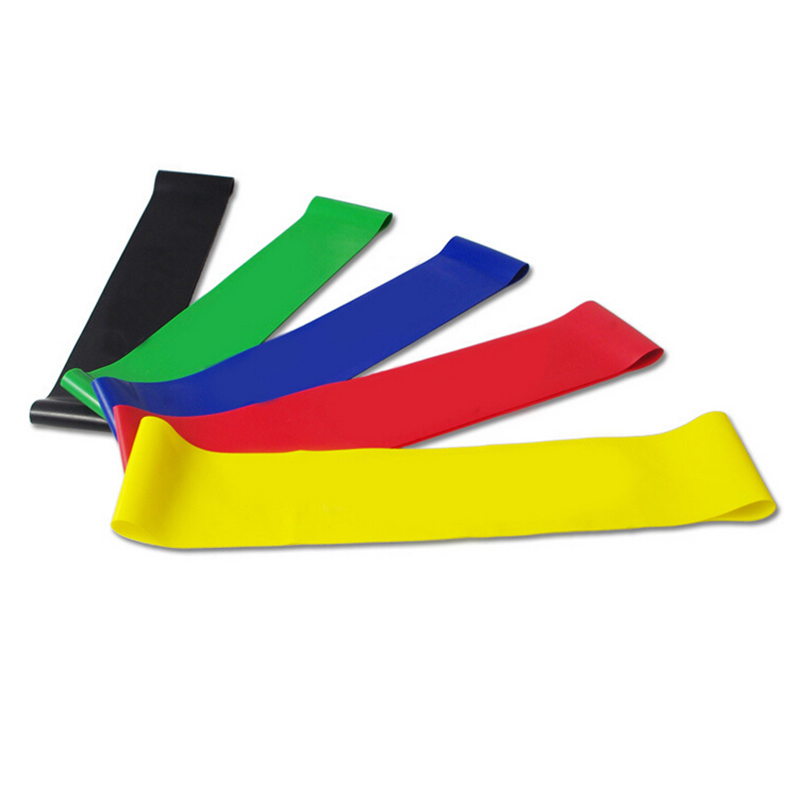 0.5m Elastic Yoga Pilates Rubber Stretch Exercise Band Arm Back Leg Fitness Elastic Exercise Bands Resistance Bands