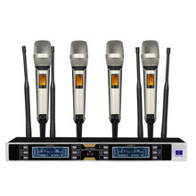 Professional wireless microphone four channel family KTV