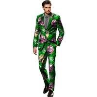 Africano Impressão Blazer E Calças Duas Peças Set Homens Blazers Dashiki africano Terno Roupas Masculinas Jaqueta Festivo Africano Para Os Homens ternos
