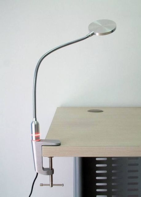 Details About Full Metal Power LED Clamp Desk Table Lamp, 180 Lumens, Touch  Switch