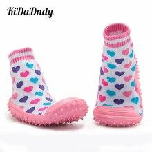 Children Socks Soft Bottom Non-Slip Floor Baby Toddler Girl Boy Newborn Enfant Shoes Rubber Soles Kids Boots WS932