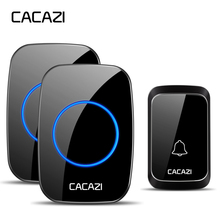 CACAZI Waterproof Wireless Doorbell DC battery-operated 300M Remote Smart Home C