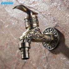 Doodii резной настенный сплав цинка античный бронзовый водопроводный кран, декоративный наружный садовый смеситель стиральная машина кран не...