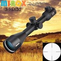 Новый MINOX 3 15X50 оптический прицел военный применение открытый охотничий прицел воздушная винтовка снайперская винтовка пистолет аксессуары