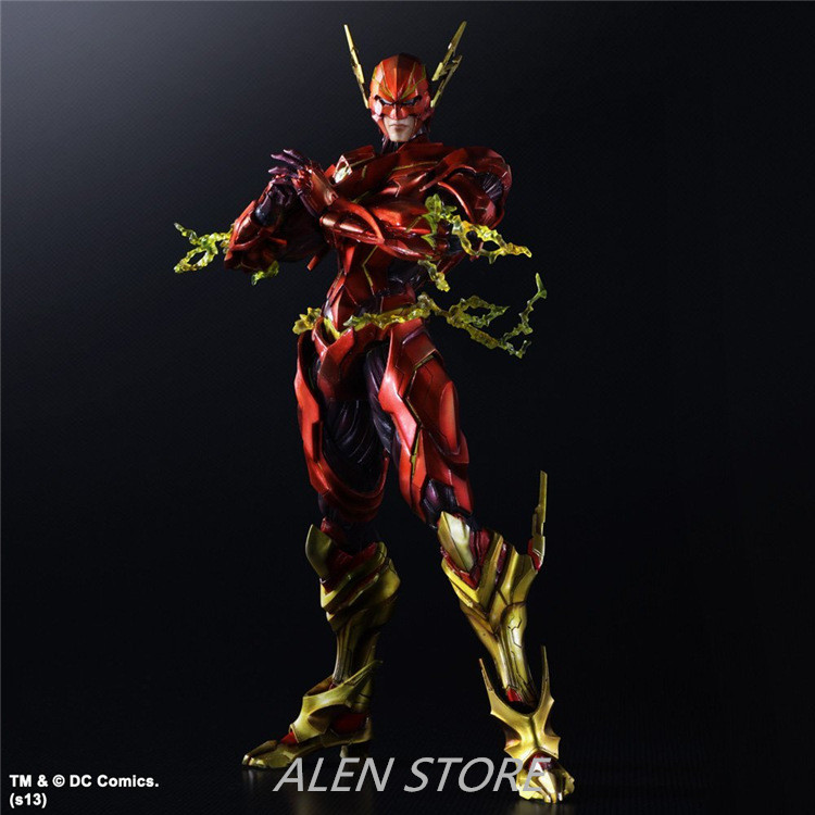ALEN 25cm Play Arts the Flash Spartans Figure Batman vs Superman Dawn of Justice Arkham PVC Action Figures Collection Model Toy