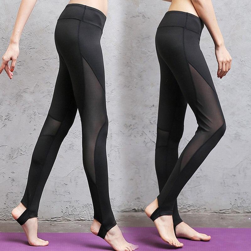 Для женщин сетки черный прозрачный удобные брюки Sexy Slim Fit Леггинсы для Для женщин Activewear Новый