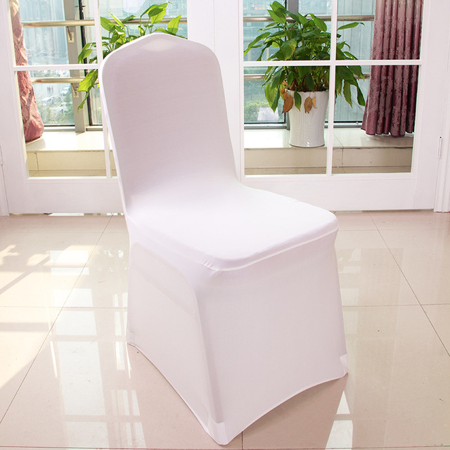 Chair Covers For Weddings Reclining Wingback Chairs White Spandex Cover Wedding Party Decorations Banquet Hotel 100pcs Lot