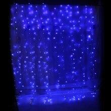 3x3 м 300LED светильник для занавесок, гирлянда, украшение для свадебной вечеринки, евровилка