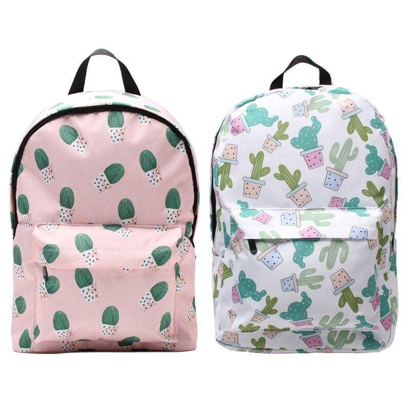 Women Girl Cute Cactus Backpack Polyester School Bookbags Travel Laptop Rucksack Daypack Shoulder Bags 2018Women Girl Cute Cactus Backpack Polyester School Bookbags Travel Laptop Rucksack Daypack Shoulder Bags 2018