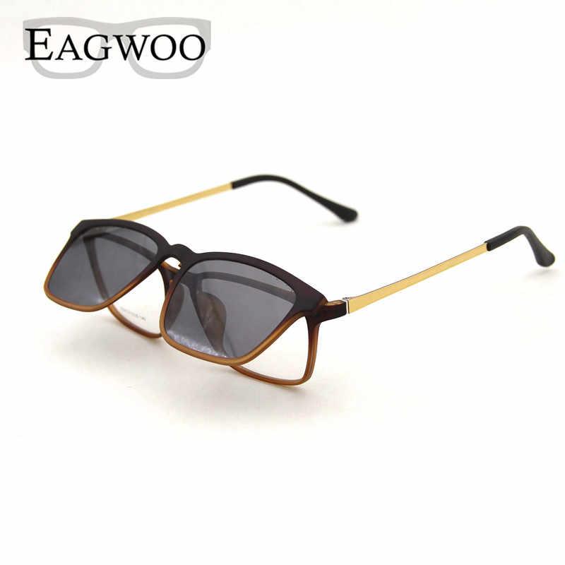 29782107253c Magnet Eyeglasses Full Rim Optical Frame Prescription Spectacle Vintage Men  Myopia Eye Glasses Sunglasses Anti Glare