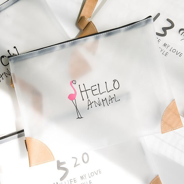 Transparent travel cosmetic bag cartoon flamingo women zipper make transparent travel cosmetic bag cartoon flamingo women zipper make up bag makeup case organizer storage pouch gumiabroncs Image collections