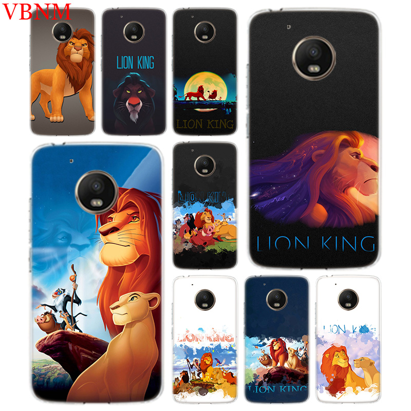 Simba The King Lion Accessories Phone Case For Motorola Moto G7 G6 G5S G5 E4 Plus G4 E5 Play Fit Pattern Customized Coque Cover