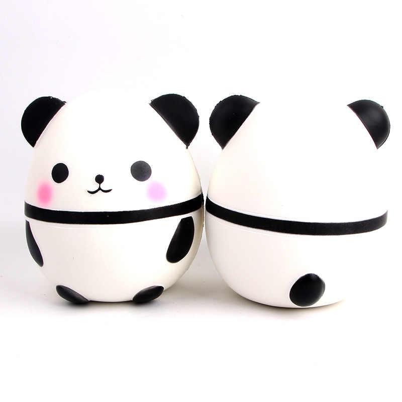 С двумя стрелами на высоком каблуке 12 см с изображением милой панды медведь яйцо мягкий медленно нарастающее при сжатии игрушки мягкие эластичные ароматизированное средство для снятия стресса игрушки подарки на Рождество телефон ремни