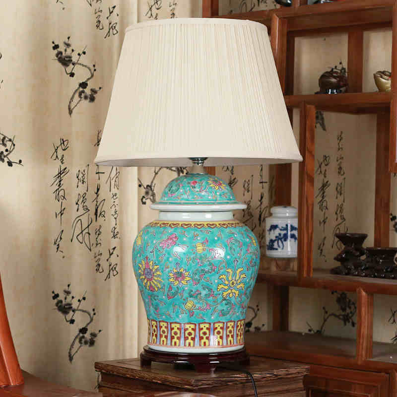 Jingdezhen vintage style porcelain ceramic desk table lamps for jingdezhen vintage style porcelain ceramic desk table lamps for bedside chinese blue and white porcelain traditional table lamp in table lamps from lights aloadofball Choice Image