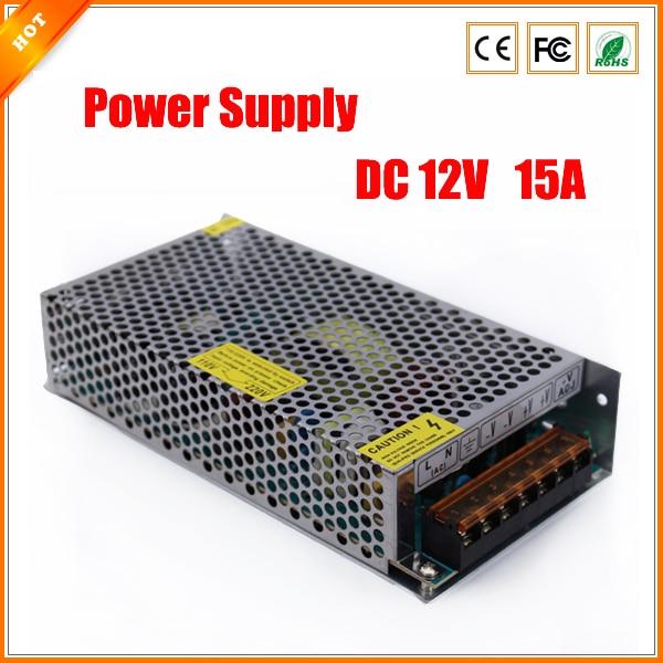 bilder für Neue 12 V 15A 180 Watt Schalter Schaltnetzteil für Cctv-kamera für Sicherheitssystem für Led-lichtleiste 110-240 V