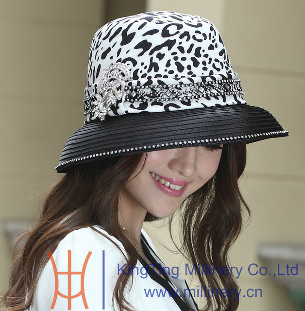 fc0df457913 Free Shipping Hot Sale Fashion Winter New Arrival Elegant Women Hat Ladies   Church Hat Satin