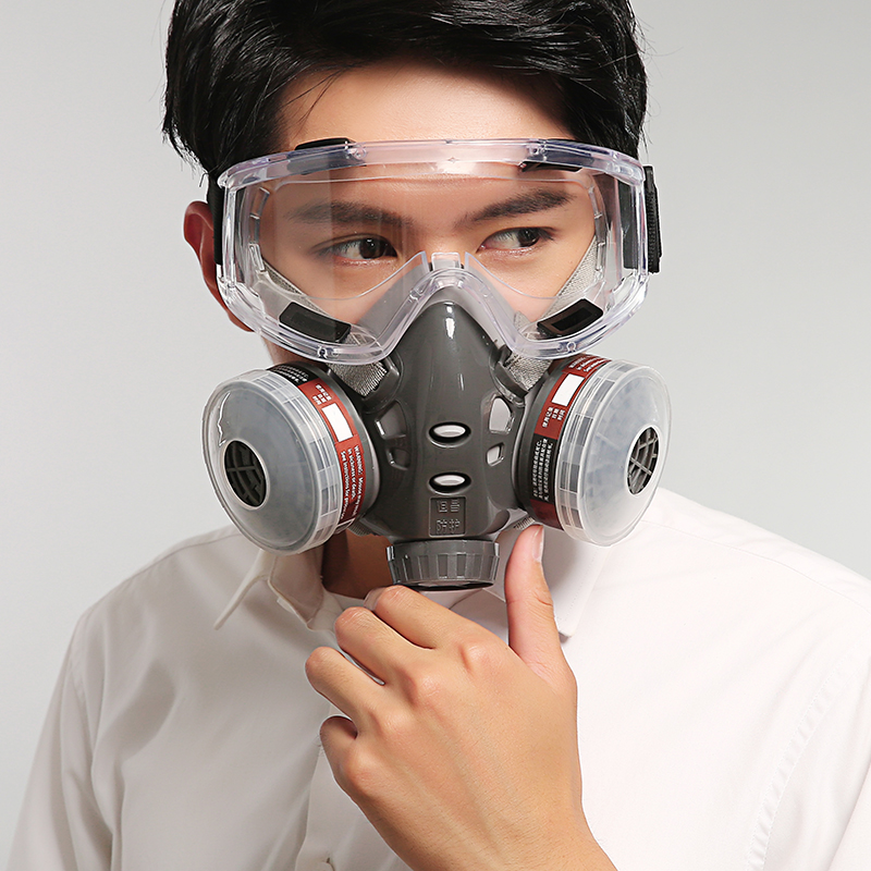 Gas Mask Dustproof Half Mask Spray Paint Formaldehyde Chemical Industry Pesticide Activated Carbon Odor Absorpt Protective Mask