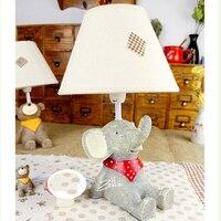 かわいい象子スイッチボタンミニ子供ledテーブルランプスタジオスタイル子供ルームのデスクランプe14 110ボルト-220ボルト寝室ライト