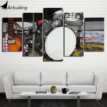 HD Printed 5 Piece Canvas Art Drum Painting Musical Instruments Modular Wall Pictures for Living Room Free Shipping CU-2188C