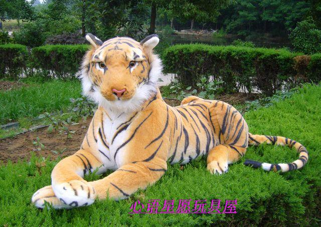 stuffed animal 110cm plush tiger toy about 43 inch simulation tiger doll great gift  free shipping w018 big toy owl plush doll children s toys simulation stuffed animal gift 28cm