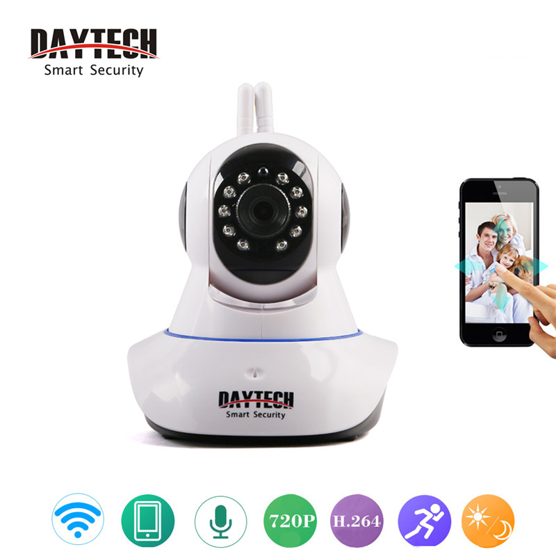 daytech security camera 720p ip camera wifi two way audio. Black Bedroom Furniture Sets. Home Design Ideas