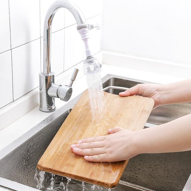 Home Sink Faucet Extender Kitchen Water Tap Extension Kid Bathroom Children Hand Wash Water Saving Bathroom Faucet Extension