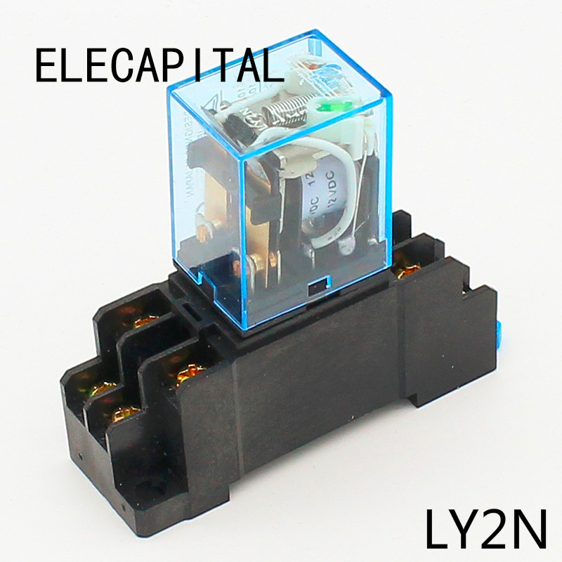 Finder MINIATURE POWER RELAY 12A 2xC//O 8-Pins Flat Plug In 12VDC Or 24VDC