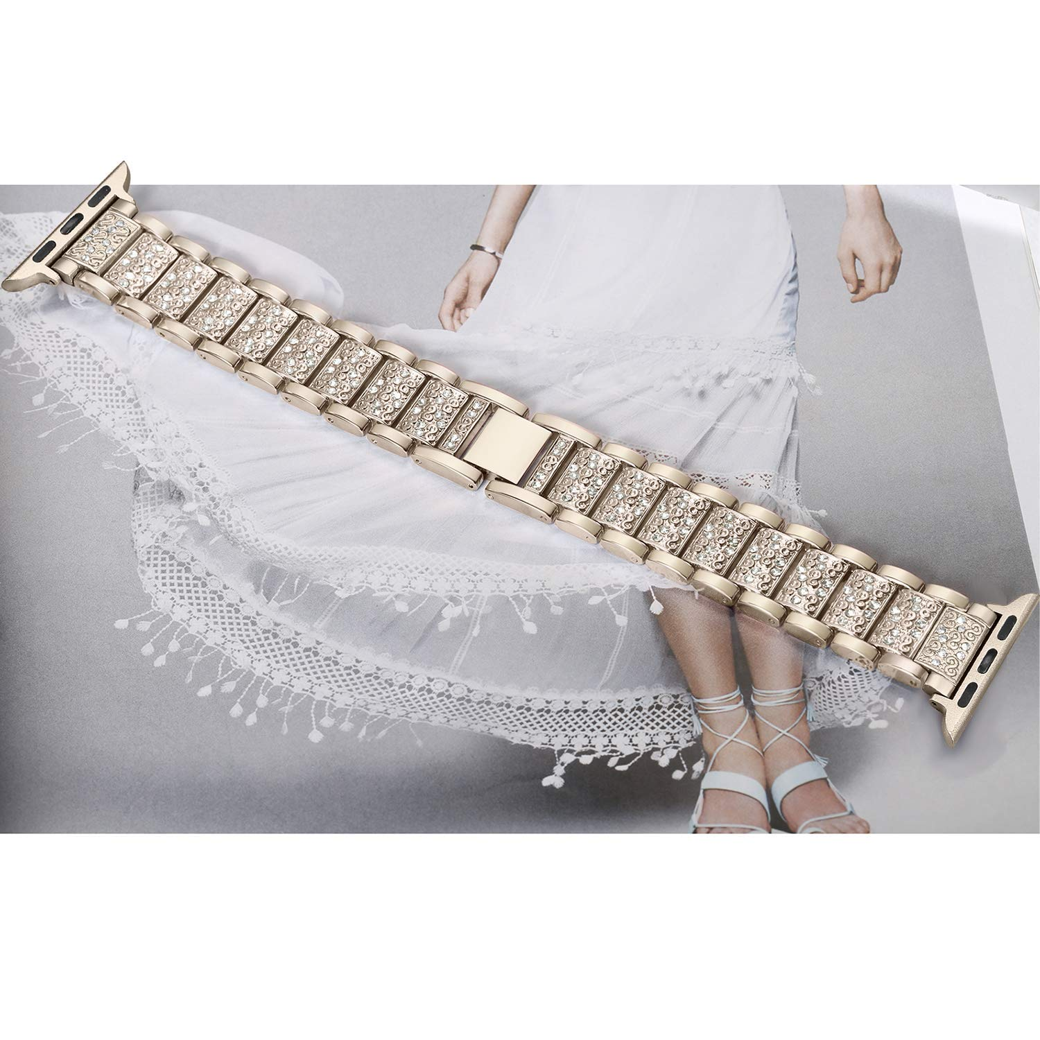 Women Diamond Band for Apple Watch 16