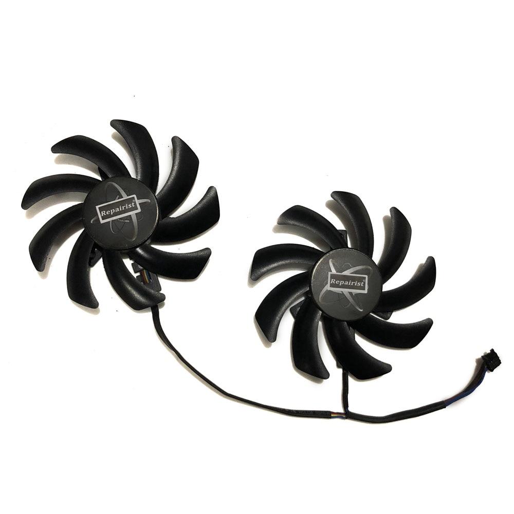 2pcs/set FDC10H12S9-C R9-270/290/390X VGA GPU Cooler Graphics Fan For XFX R9 285/280/290/290X/280X RX 480/470 Video Card Cooling