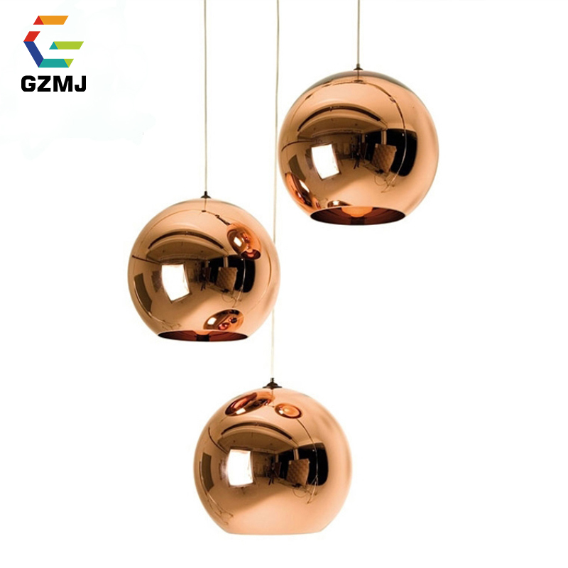 GZMJ Rope Glass Ball Pendant LED Lights Hanging Lamp Fixture Lustre De Ceiling Luminaire Light Home Globe Lampshade Pendant Lamp