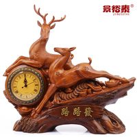 Classical watches bell plum ride on deer ornaments home living room decoration clock clock table clock Chinese clock artwork