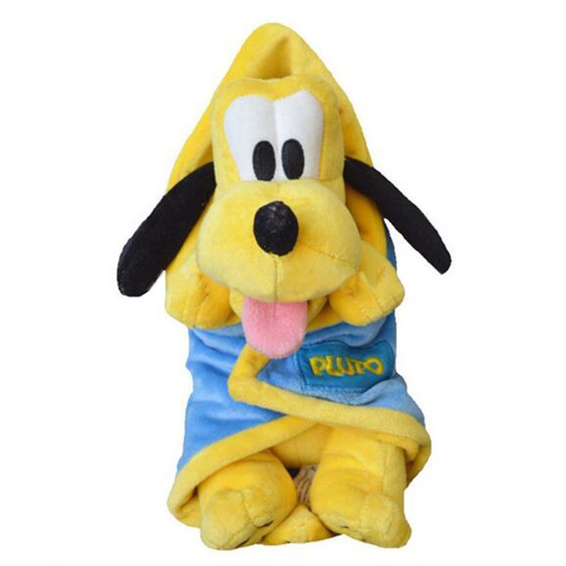 Theme Park Baby Pluto Pup Plush with Blanket Doll 28cm-in ...