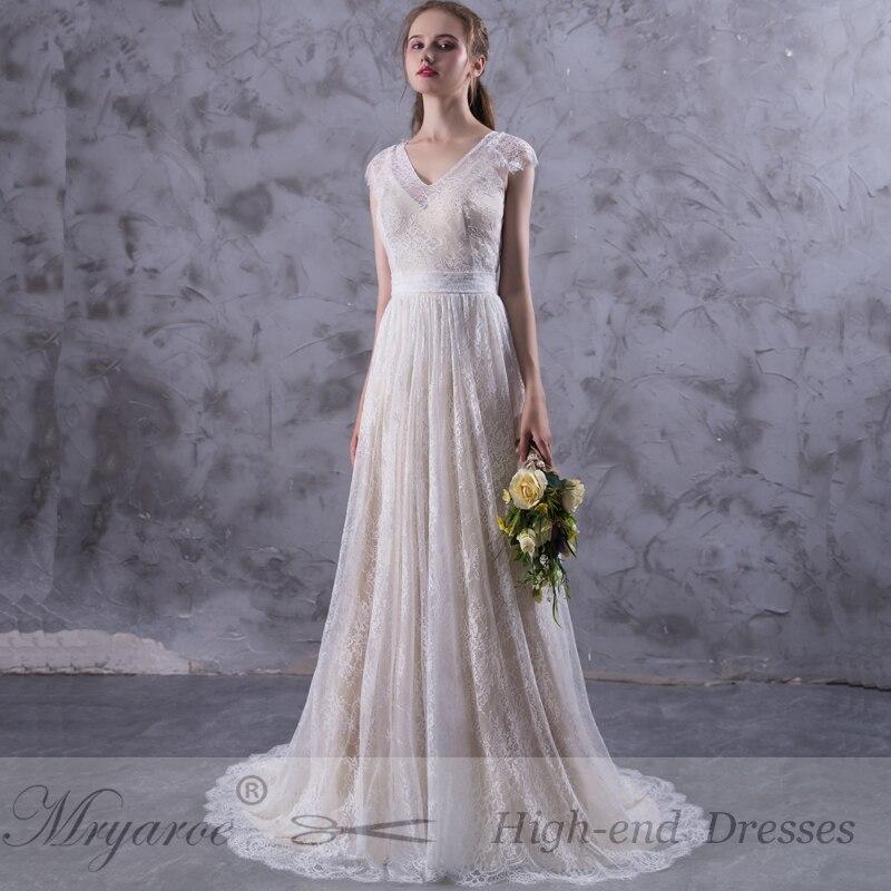 Mryarce New Design vestido de noiva 2017 Amazing Exquisite Lace Boho Wedding Dresses Open Back Bridal Gowns mariage Dress