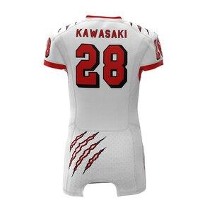 Image 4 - Kawasaki personnalisé Sublimation Football américain haut hommes USA Collage pratique/course Football chemises maillot grande taille