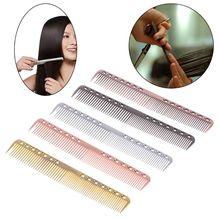 Hair Brush Men Women Aluminum Metal Cutting Comb Hair