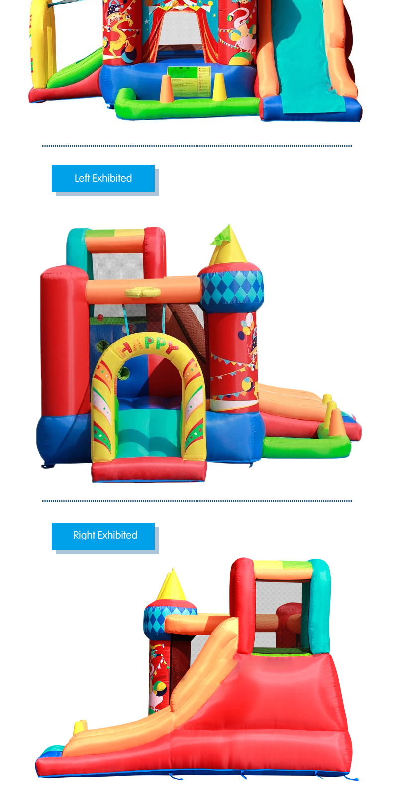 HTB1M85jPFXXXXbbXpXXq6xXFXXXW - Mr. Fun Bouncy Castle Inflatable Bounce House Double Slide For Kids with Blower