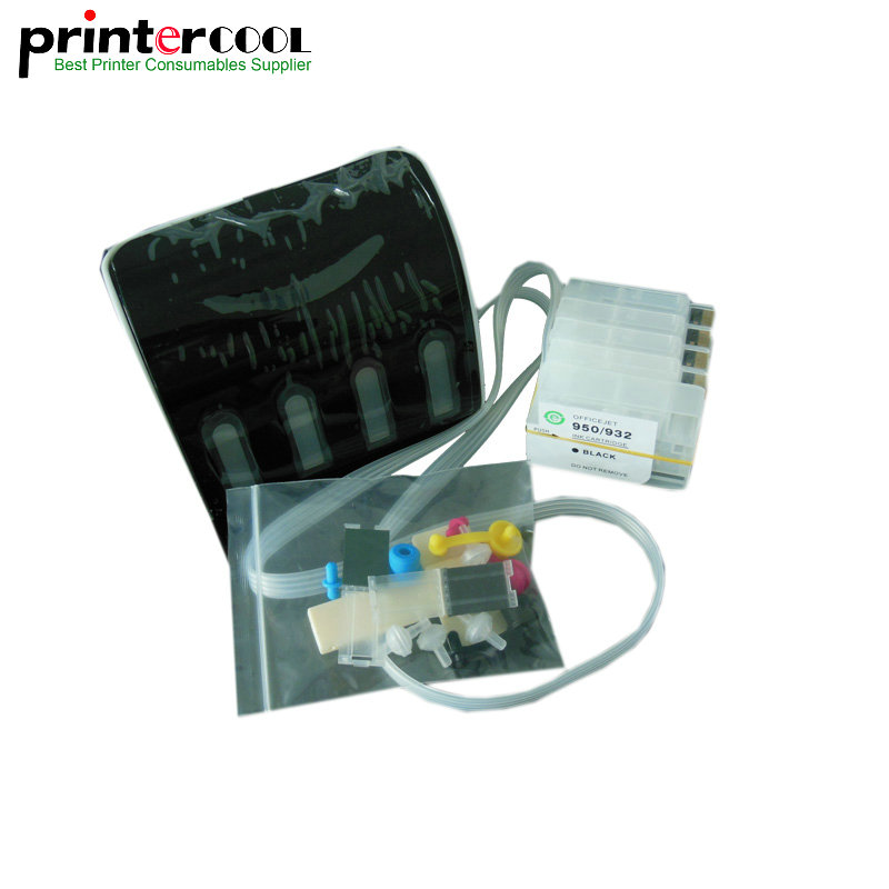 1Set 711 Empty CISS With Auto Reset Chips For HP T120 T520 DesignJet Printer