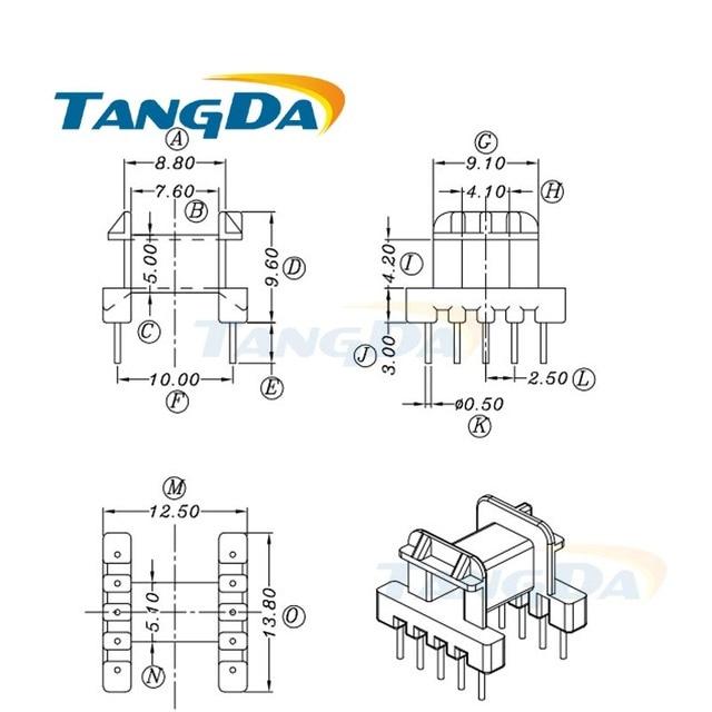 Tangda EF EF12.6 Type 5+5 pin 10P Bobbin magnetic core