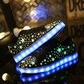 Свет Обувь 2016 Весна Мужская Световой Ночь Повседневная Обувь Новая Мода Usb Schoenen Zapatillas Led Хомбре Светящиеся Обуви Продаж