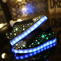 Led Light Shoes 2016 Spring Unisex Luminous Night Casual Shoes New Fashion Usb Schoenen Zapatillas Led Hombre Glowing Shoe Sales