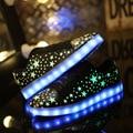 Sapatos 2016 Primavera Unisex Noite Luminosa do diodo emissor de Luz Sapatos Casuais Nova Moda Usb Schoenen Zapatillas Hombre Led Glowing Sapato Vendas